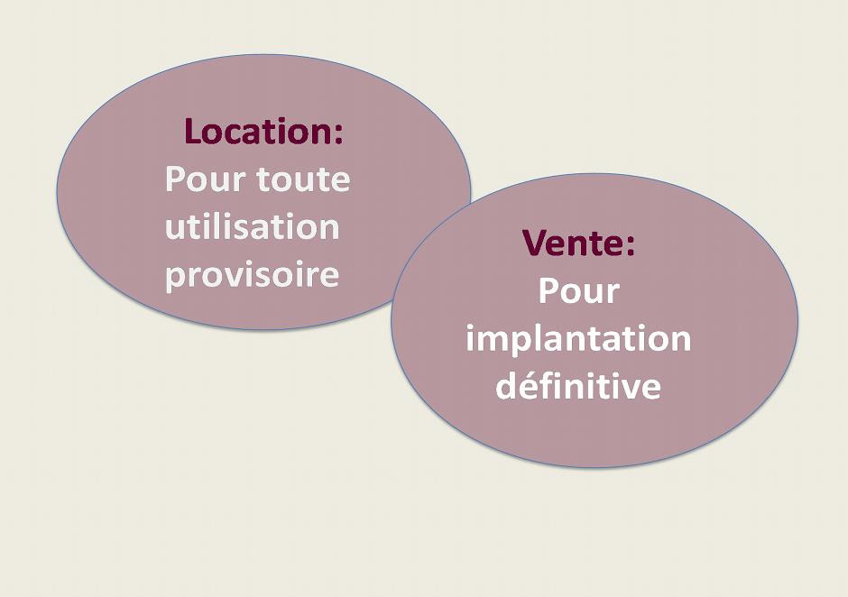location vente module complementaire